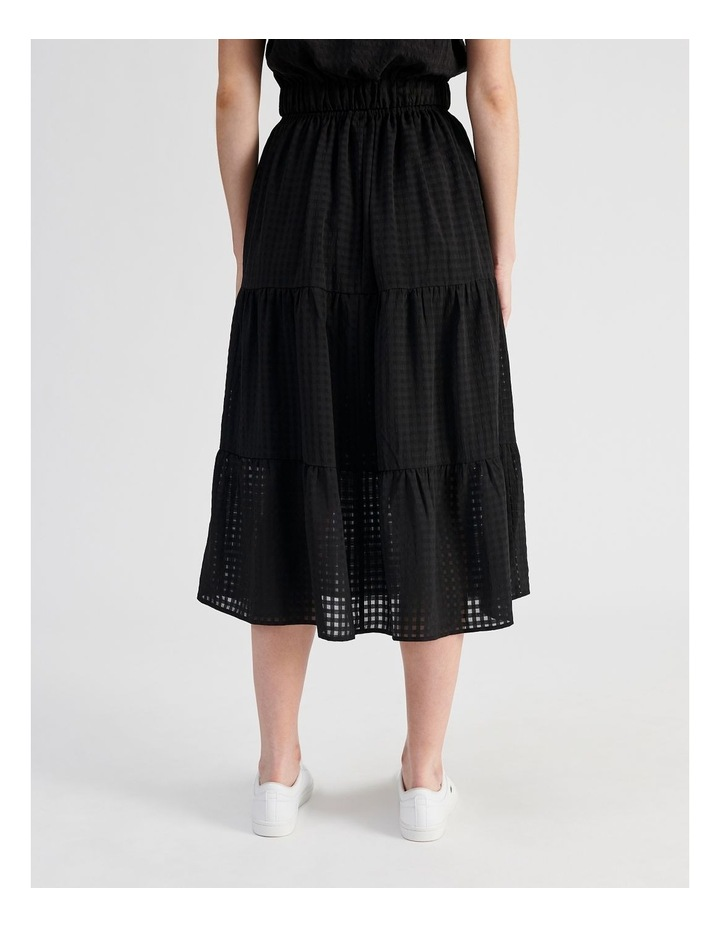 Gingham Tiered Skirt image 3