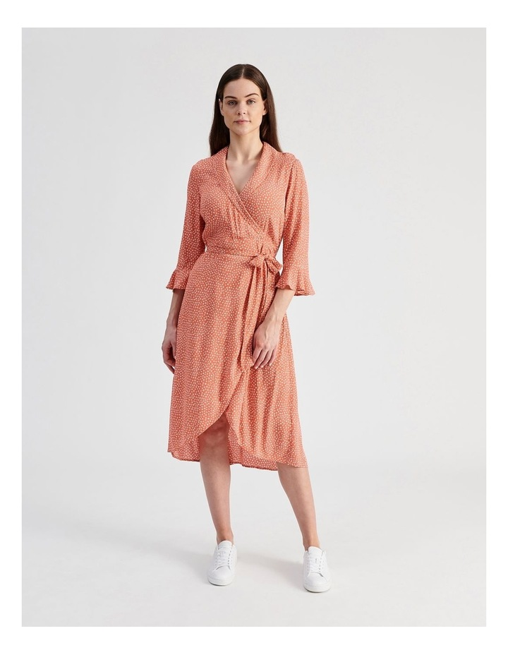 Shawl Collar Wrap Dress image 1