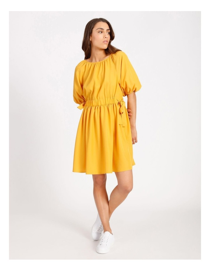Modal Blend Puff Sleeve Dress image 1