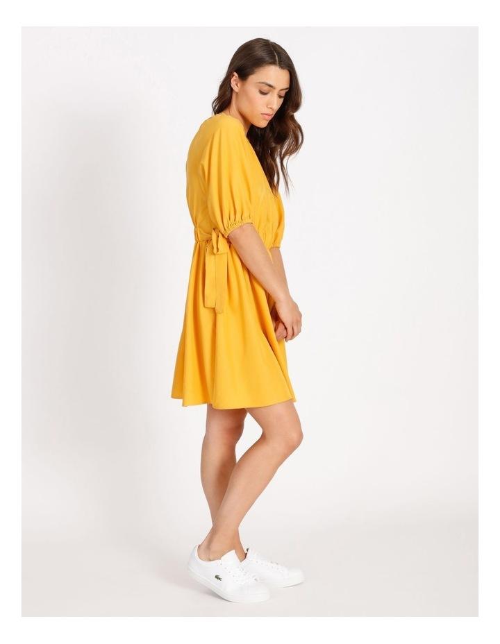 Modal Blend Puff Sleeve Dress image 2