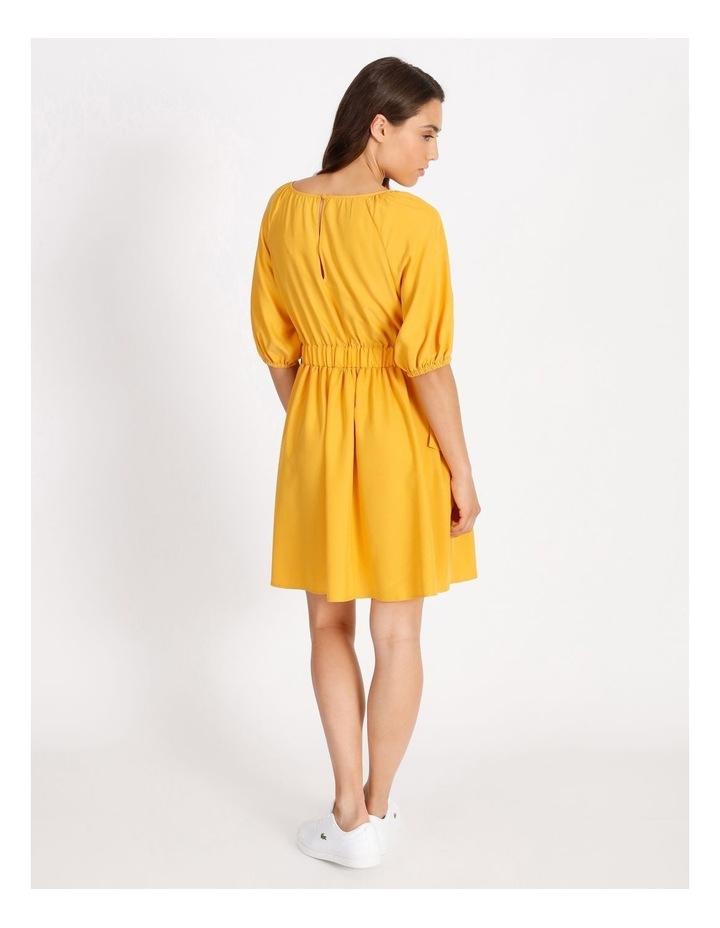 Modal Blend Puff Sleeve Dress image 3