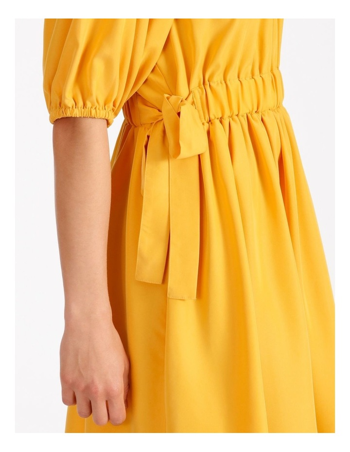 Modal Blend Puff Sleeve Dress image 4