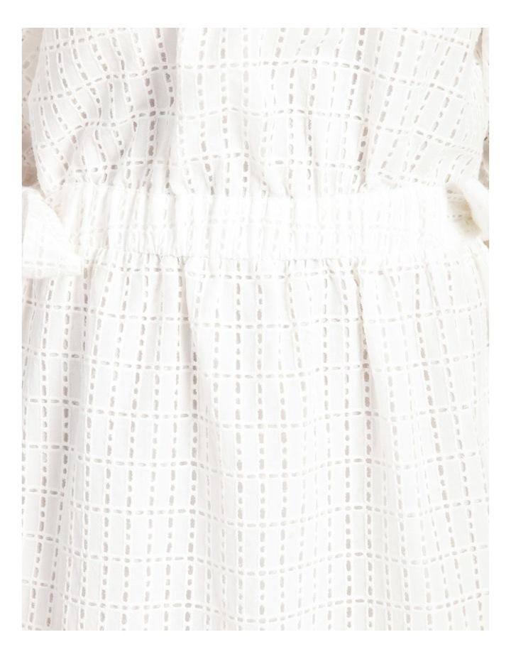 Cotton Tie Waist Puff Sleeve Mini Dress image 6