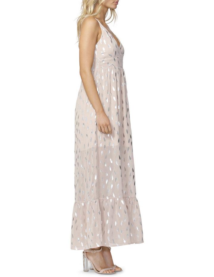 Feather Foil Maxi Dress image 3