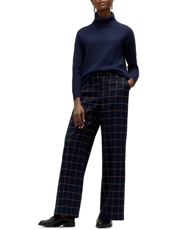 Windowpane Wide Leg Trouser image 1