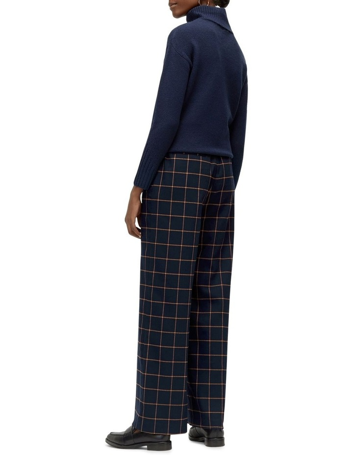 Windowpane Wide Leg Trouser image 2