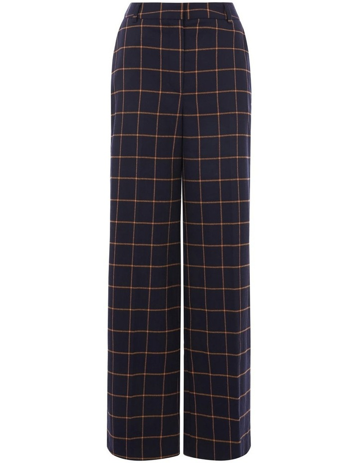 Windowpane Wide Leg Trouser image 4