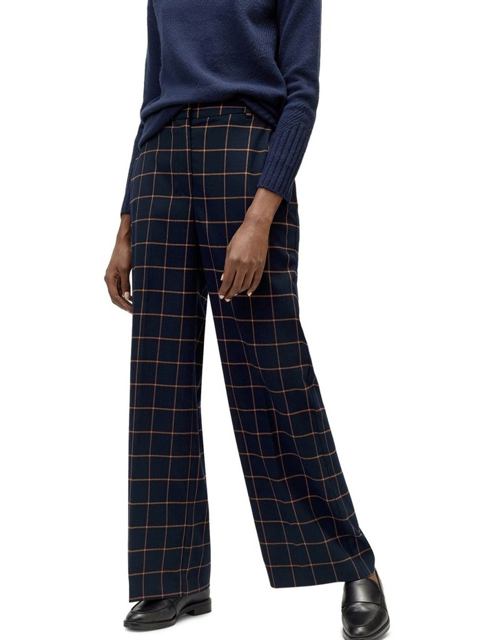 Windowpane Wide Leg Trouser image 5