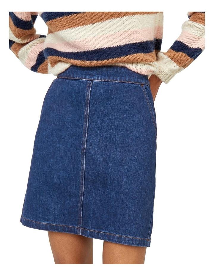 Denim A-Line Skirt image 1