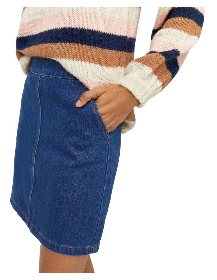 Denim A-Line Skirt image 3