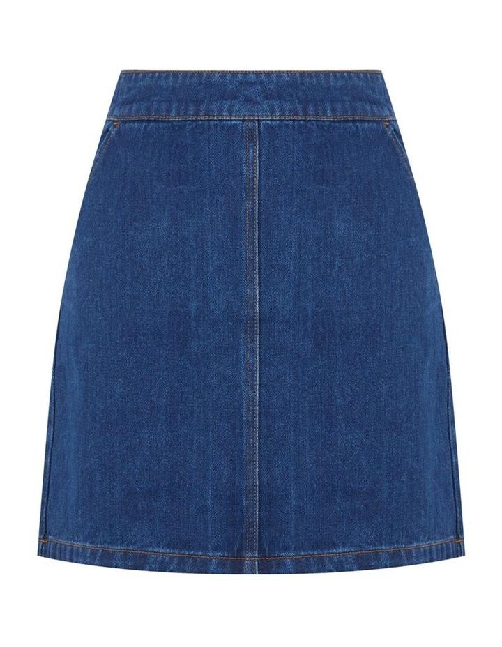 Denim A-Line Skirt image 4