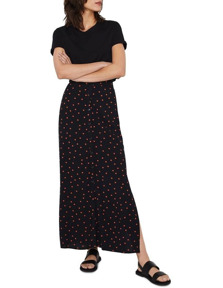 Spot Button Through Midi Skirt image 1