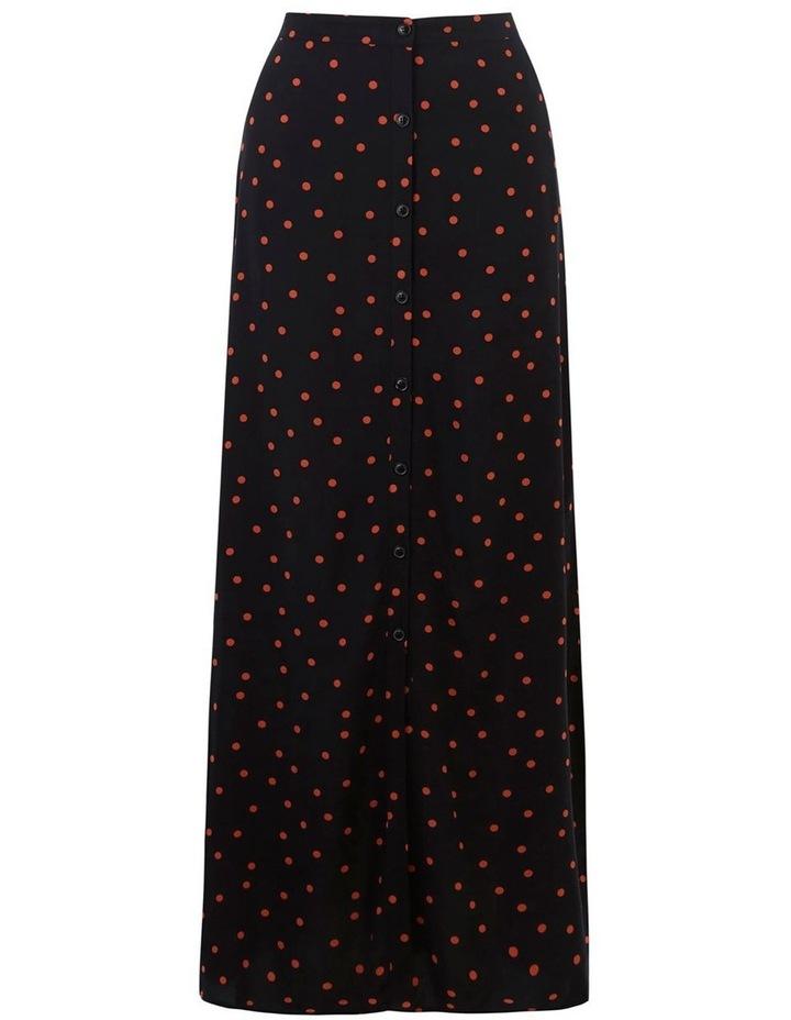 Spot Button Through Midi Skirt image 4