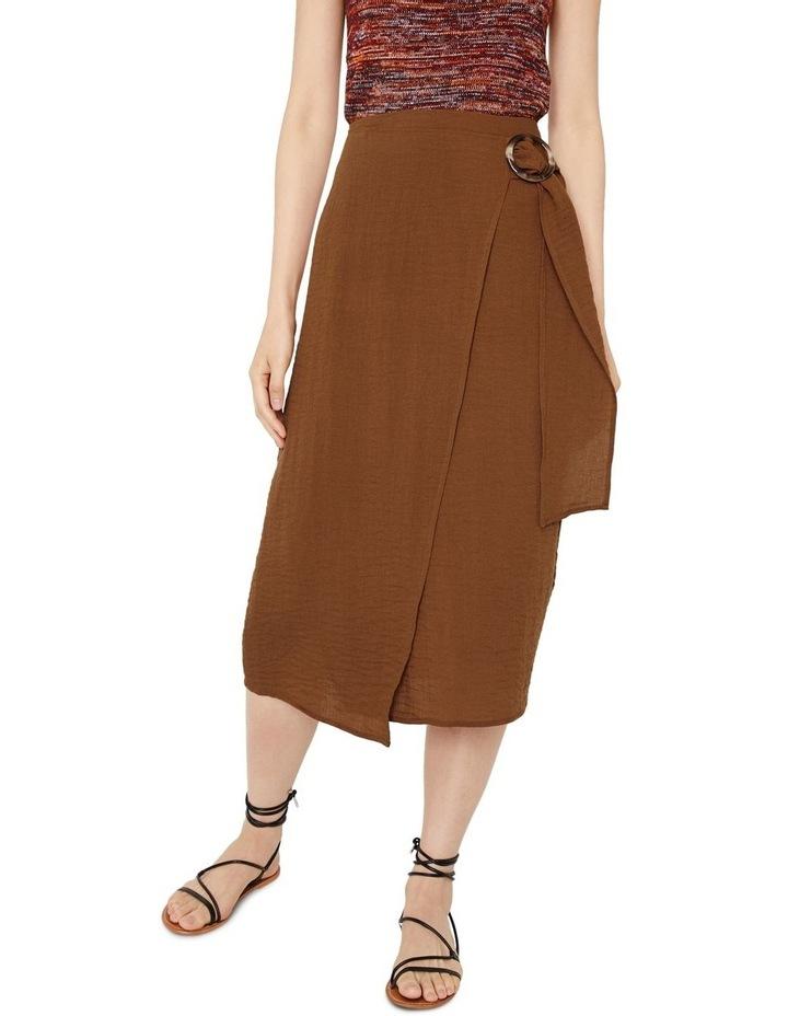 Textured Buckle Crepe Skirt image 1
