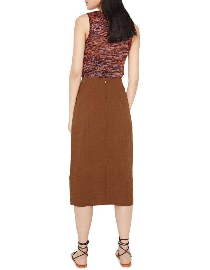 Textured Buckle Crepe Skirt image 2