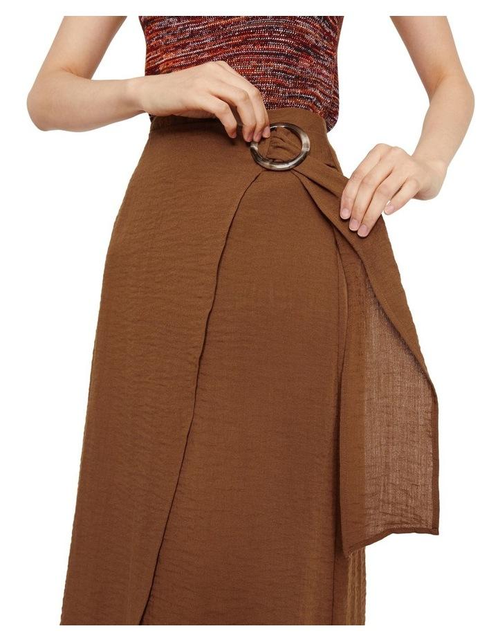 Textured Buckle Crepe Skirt image 3