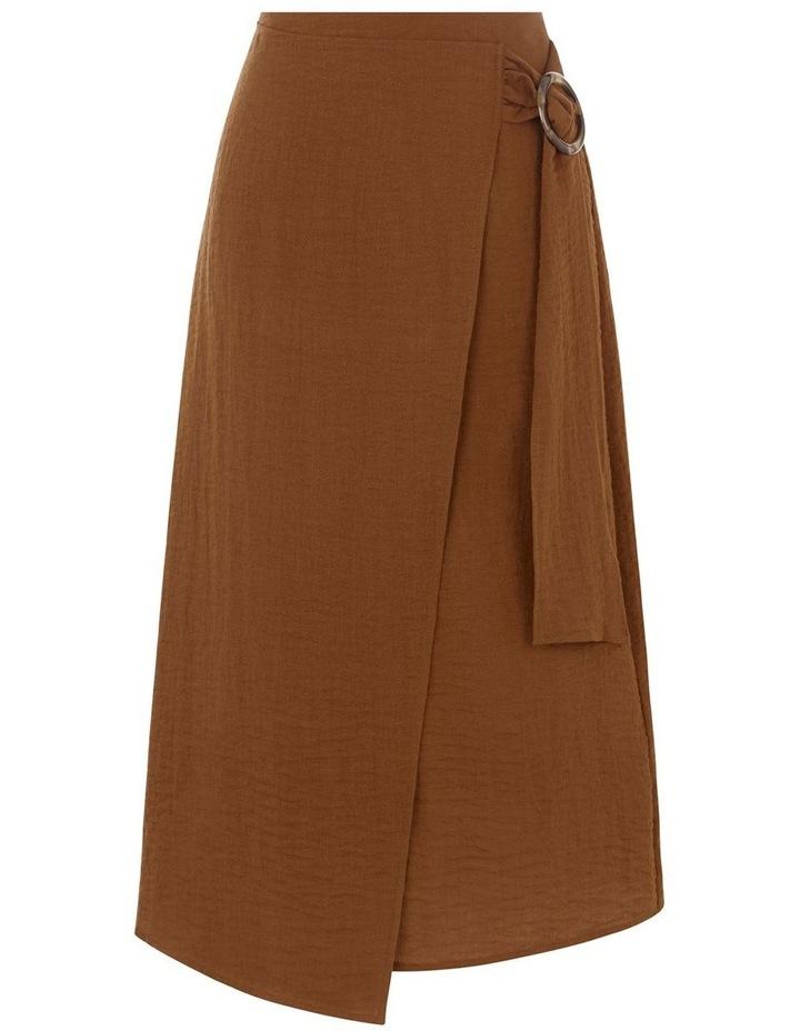 Textured Buckle Crepe Skirt image 4