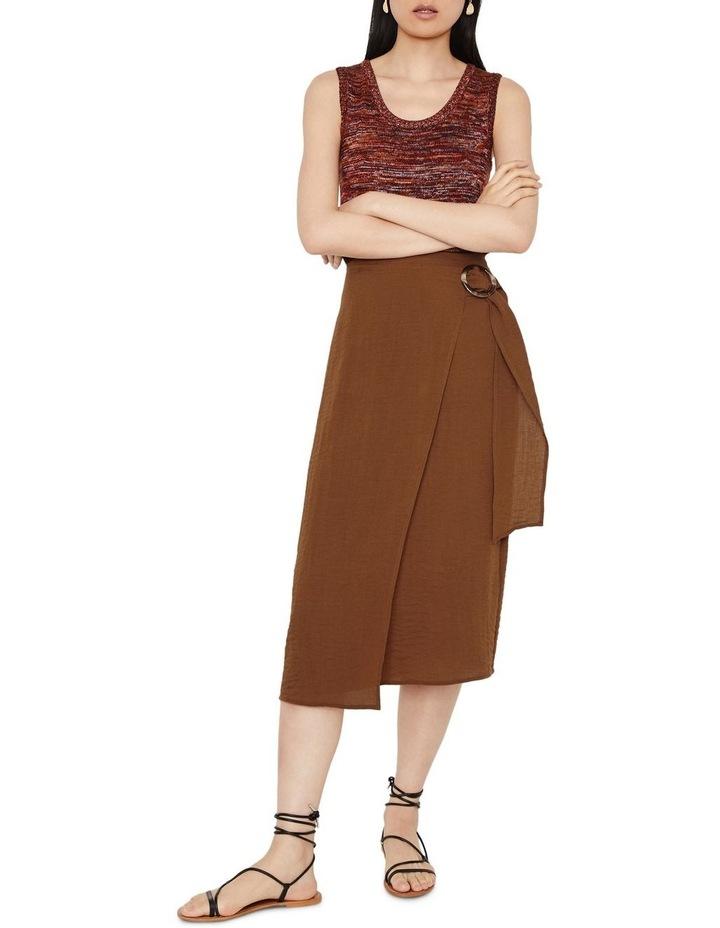 Textured Buckle Crepe Skirt image 5