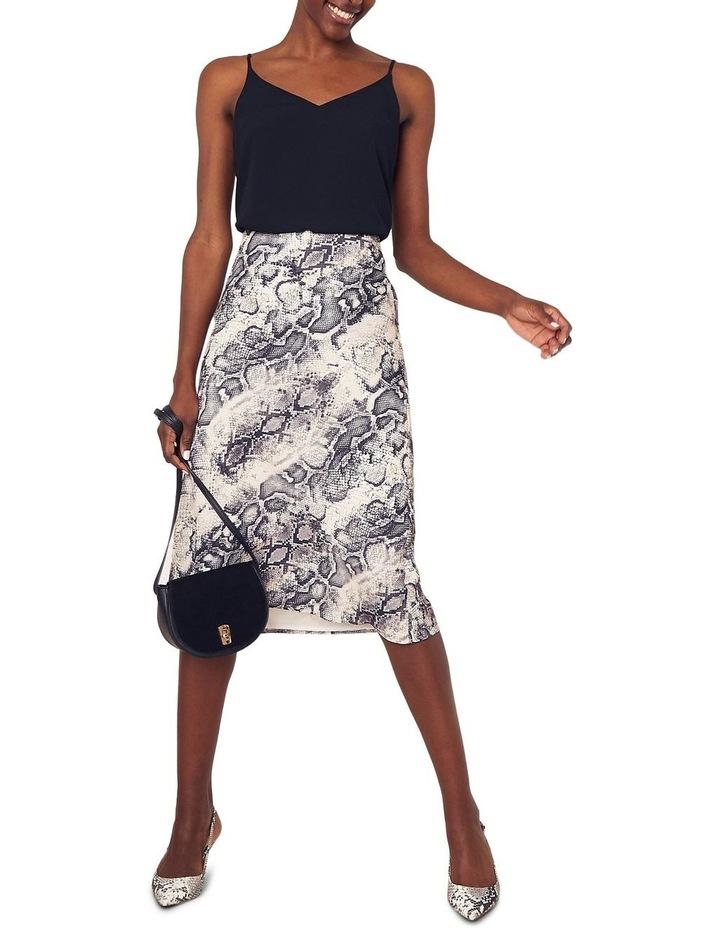 Snake Bias Cut Midi Skirt image 1