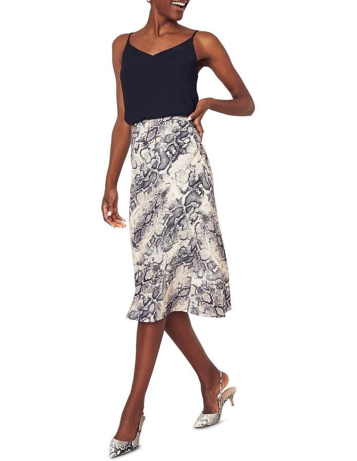 Snake Bias Cut Midi Skirt image 2