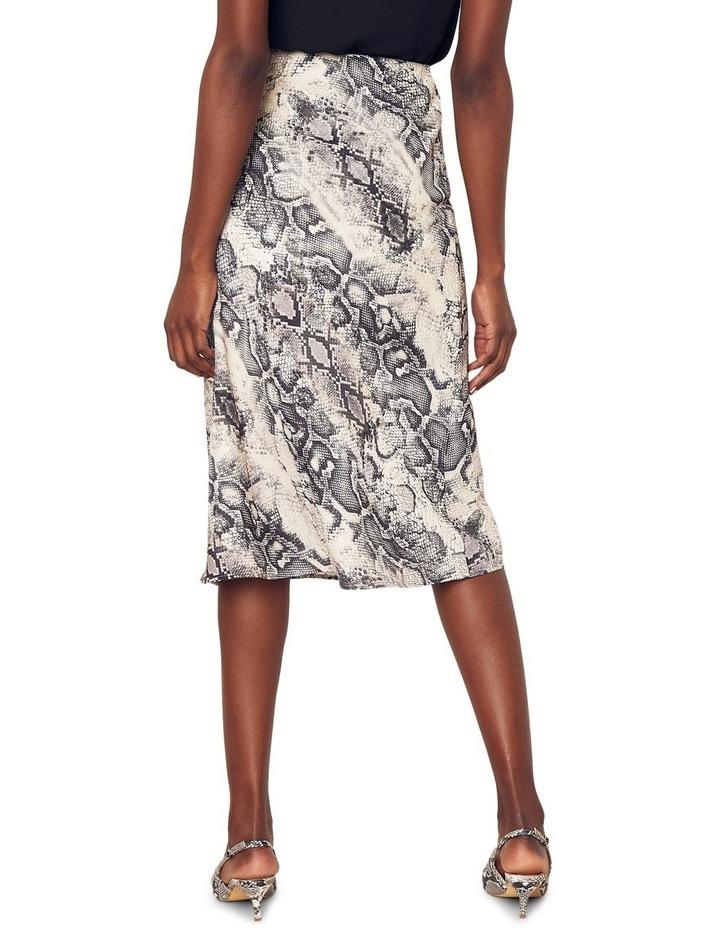 Snake Bias Cut Midi Skirt image 3