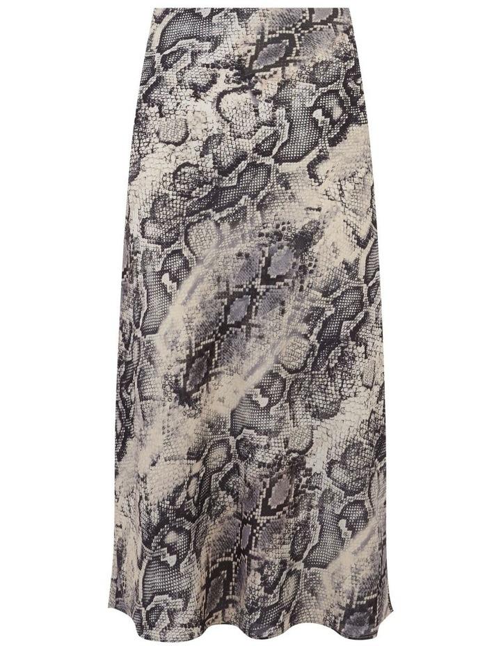 Snake Bias Cut Midi Skirt image 4