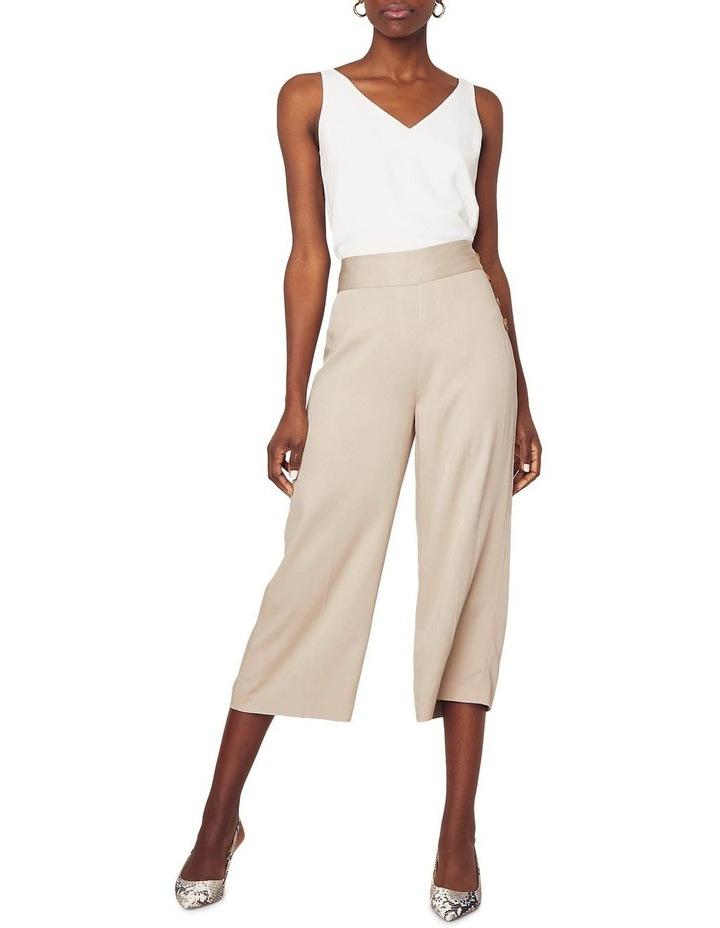 Button Side Crop Wide Leg Pant image 1
