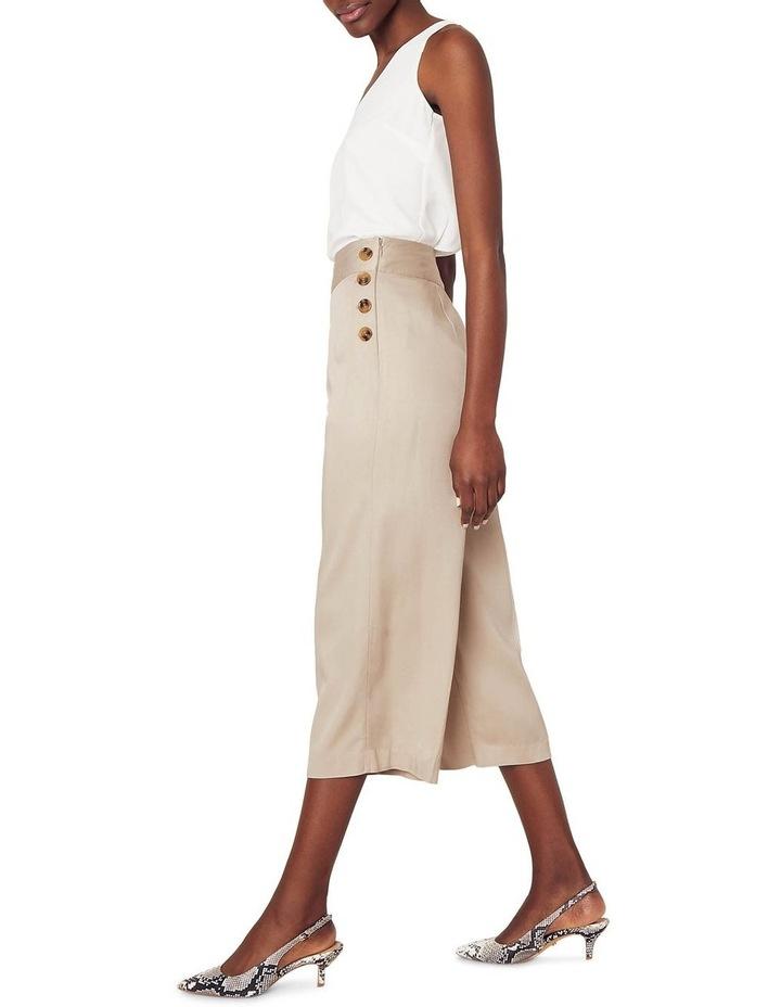 Button Side Crop Wide Leg Pant image 2