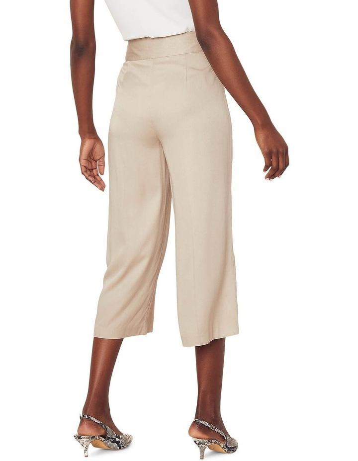 Button Side Crop Wide Leg Pant image 3