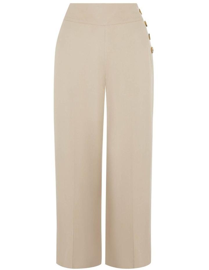 Button Side Crop Wide Leg Pant image 4