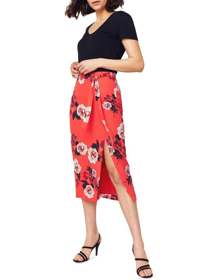Scarf Floral Column Skirt image 1