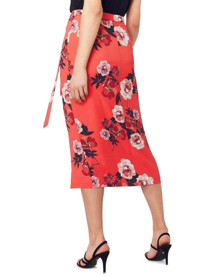 Scarf Floral Column Skirt image 2