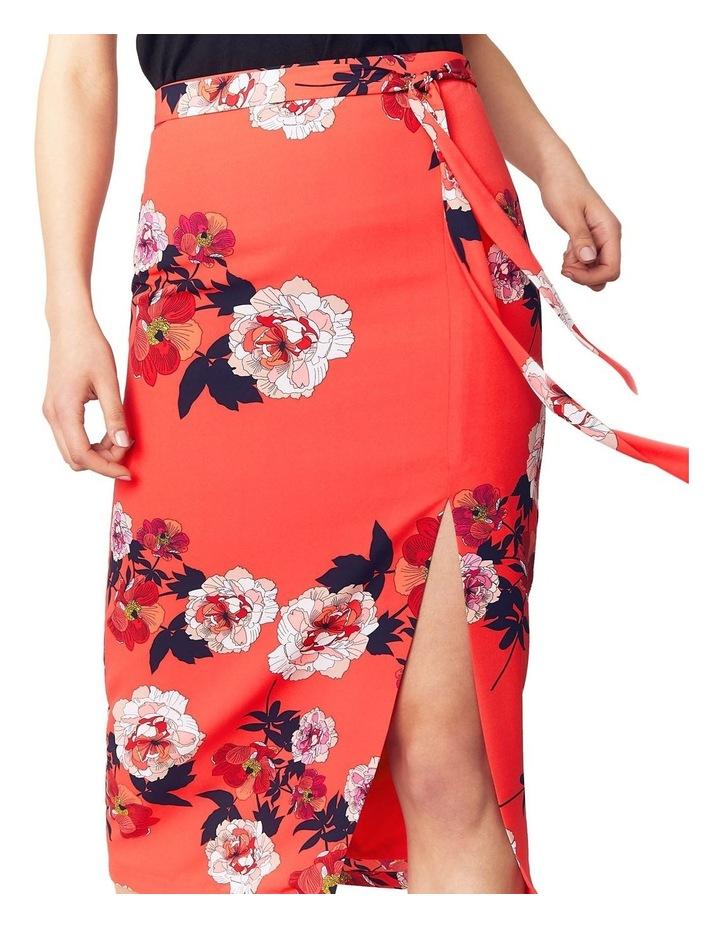 Scarf Floral Column Skirt image 3