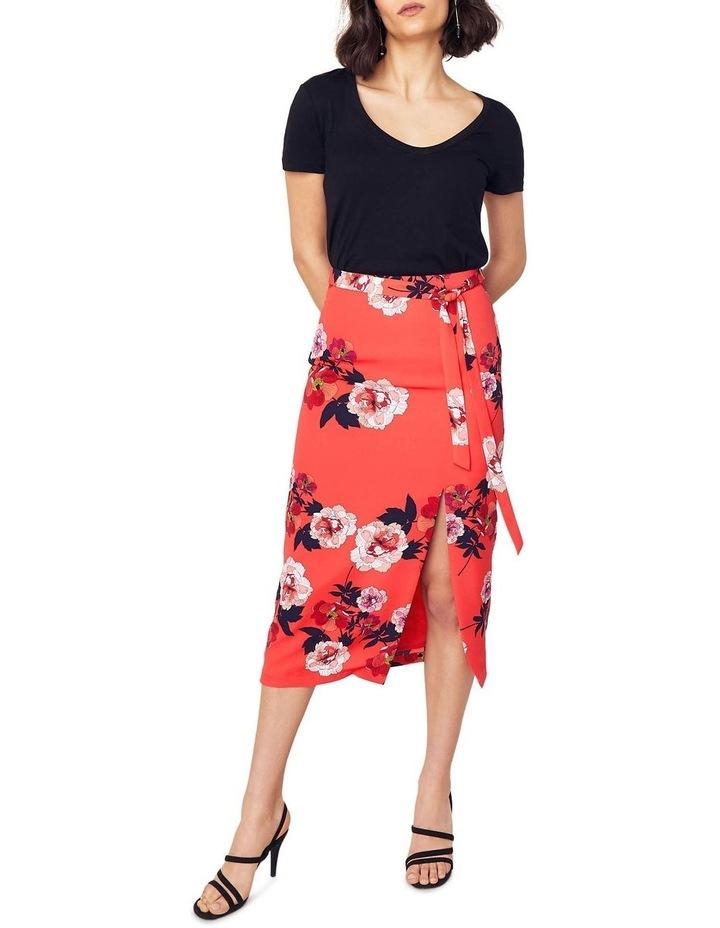 Scarf Floral Column Skirt image 4