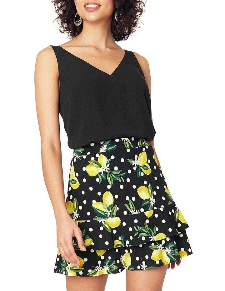 Linen Look Lemon Flippy Skirt image 1