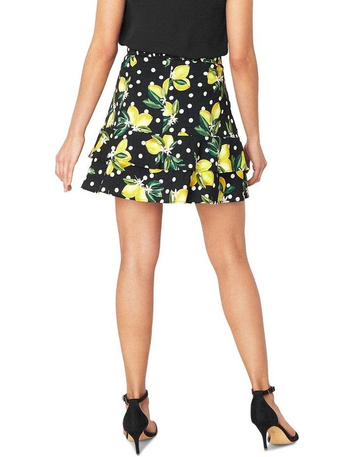 Linen Look Lemon Flippy Skirt image 2