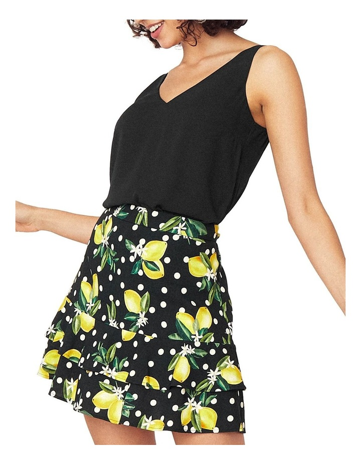 Linen Look Lemon Flippy Skirt image 3