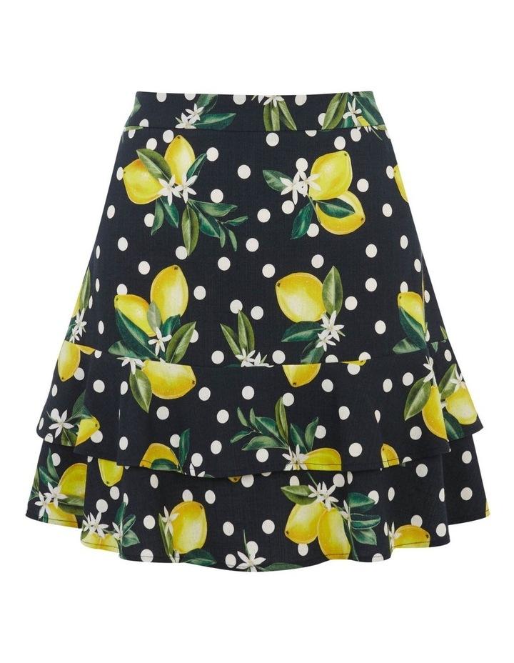 Linen Look Lemon Flippy Skirt image 4