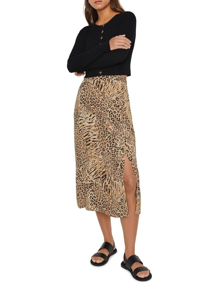 Mixed Animal Button Side Skirt image 1