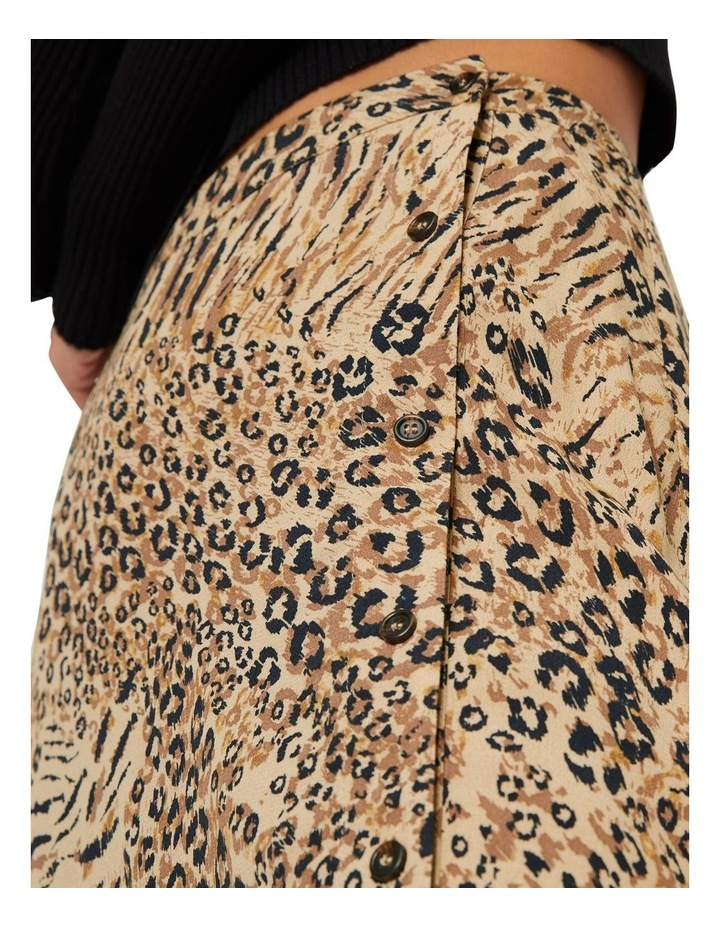 Mixed Animal Button Side Skirt image 3