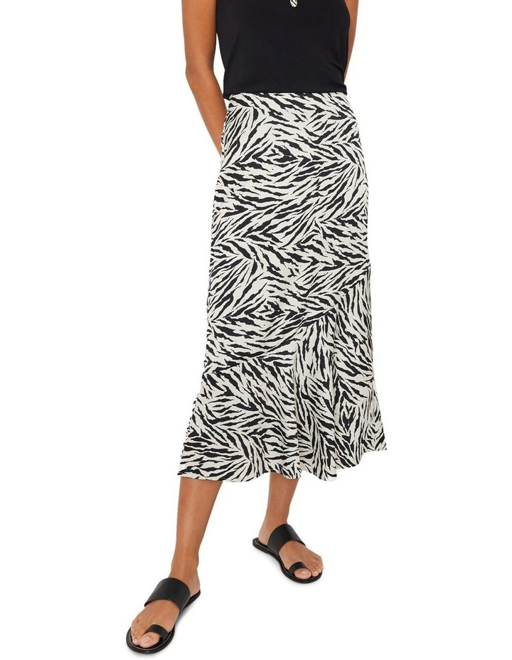 Zebra Print Bias Cut Skirt image 1
