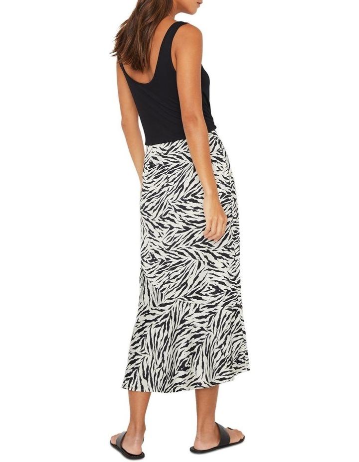 Zebra Print Bias Cut Skirt image 2