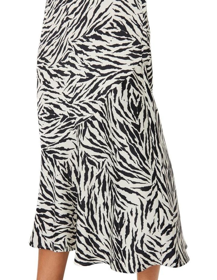 Zebra Print Bias Cut Skirt image 3