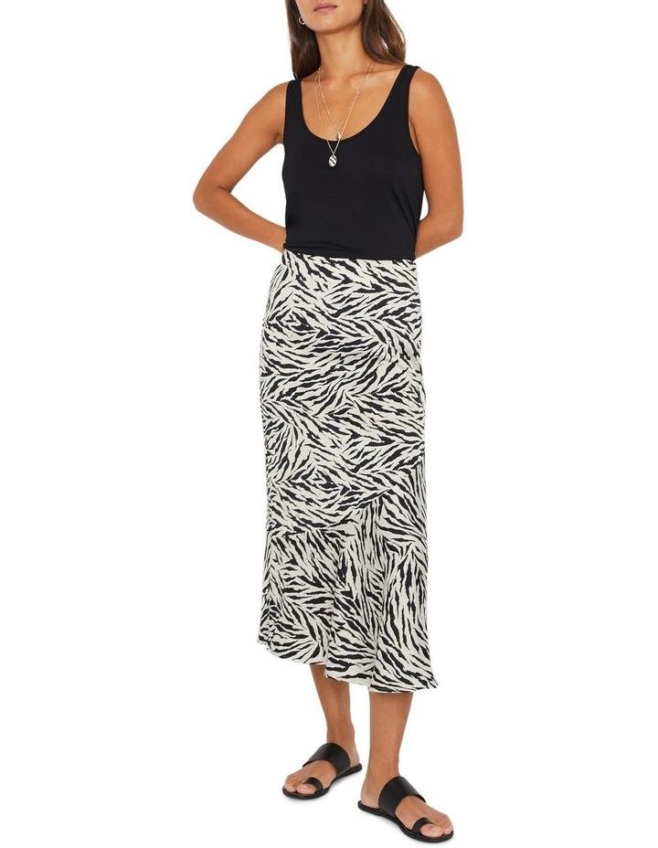Zebra Print Bias Cut Skirt image 4