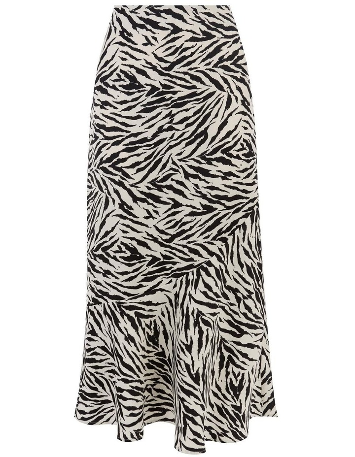 Zebra Print Bias Cut Skirt image 5