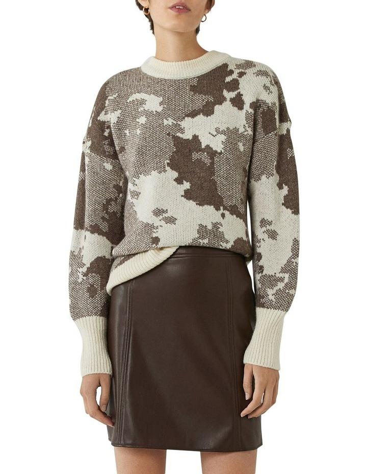 Seamed Detail PU Skirt image 1