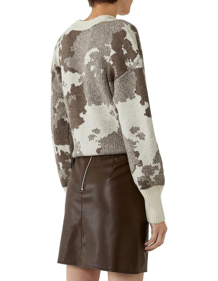 Seamed Detail PU Skirt image 2