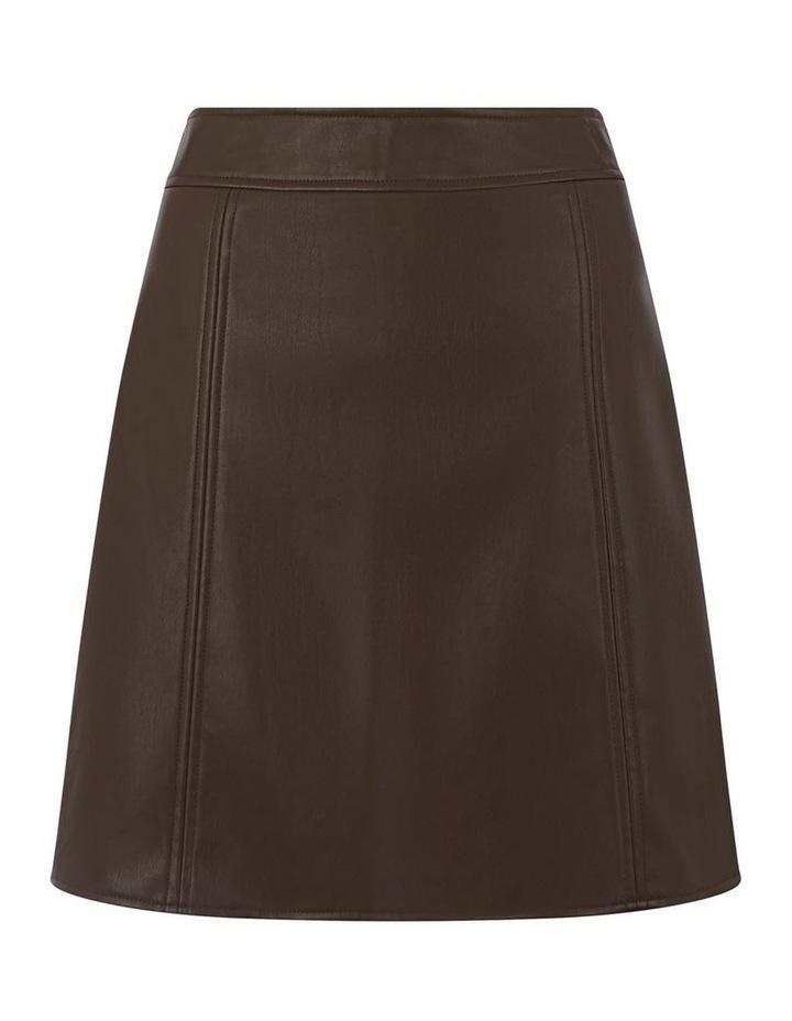 Seamed Detail PU Skirt image 5