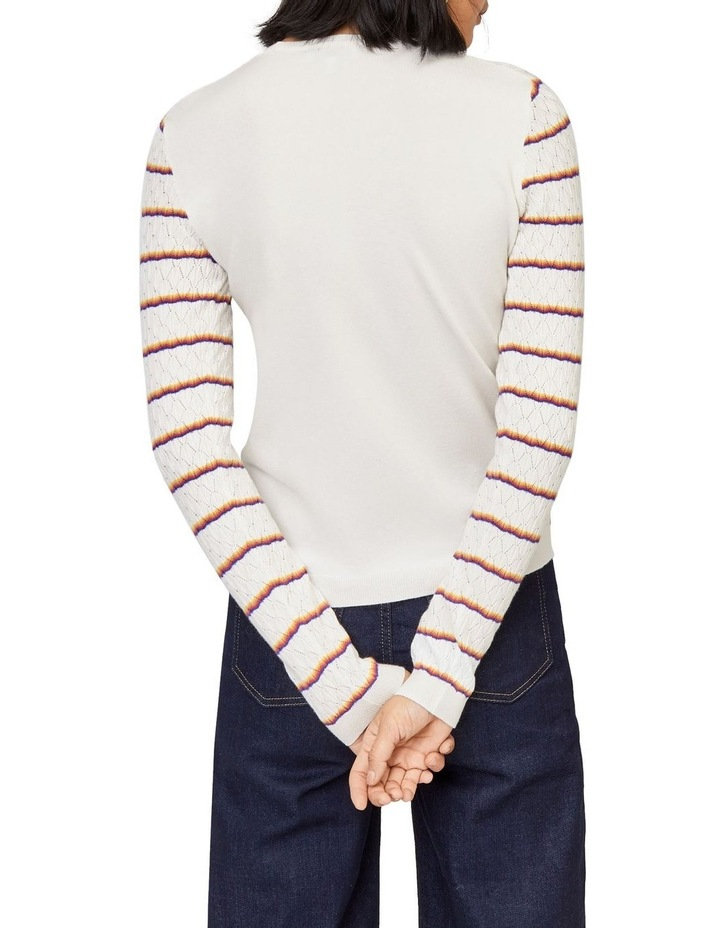 Stripe Fan Stitch Jumper image 2