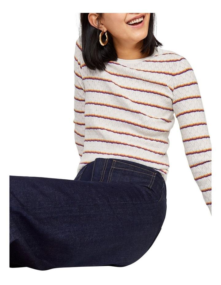 Stripe Fan Stitch Jumper image 5